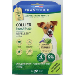Francodex Insect Repellent Collar For Puppies and Small Dogs under 10 kg. 35 cm pest control collar