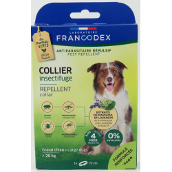 Francodex Insect Repellent Collar For Dogs over 20 kg. length 72 cm. pest control collar
