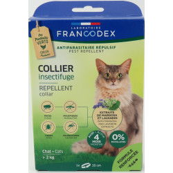 francodex Insektenschutzhalsband Für Katzen über 2 kg. Länge 35 cm. FR-175201 Antiparasitäre Katze
