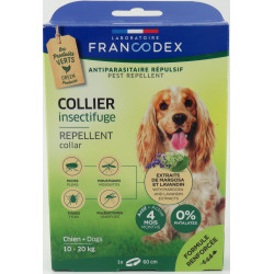Francodex Insect Repellent Collar For Dogs from 10 kg to 20 kg. 60 cm pest control collar