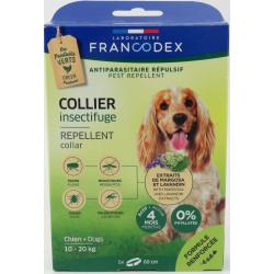 francodex Insektenschutzhalsband für Hunde von 10 kg bis 20 kg. 60 cm FR-175203 schädlingsbekämpfungskragen