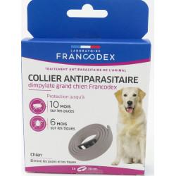 francodex 1 Dimpylathalskette zur Schädlingsbekämpfung 70 cm. Für Hunde. graue Farbe FR-170255 schädlingsbekämpfungskragen