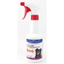francodex Ectoline Spray Perméthrine 500 ml. antiparasitaire pour chien. FR-172311 antiparasitaire