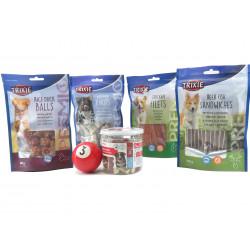 animallparadise Entdeckerkiste 5 Packungen Hundeleckerlies und ein Ball. AP-0001 Hund
