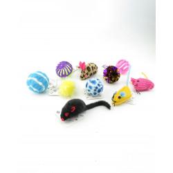 Flamingo FL-46530 lot de 10 jouet chat Games
