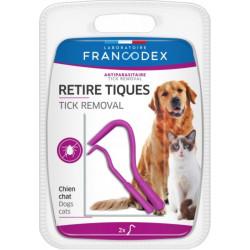 francodex Retire Tiques Pour Chiens et Chats lot de 2. FR-170051 Antiparasitaire chat