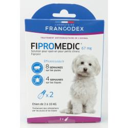 francodex 2 Fipromedic-Pipetten 67 mg. Für kleine Hunde von 2 kg bis 10 kg. antiparasitär FR-170357 antiparasitär