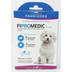 francodex FR-170357 2 Pipettes Fipromedic 67 mg. Pour Petits Chiens de 2 kg à 10 kg. antiparasitaire anti-parasitic