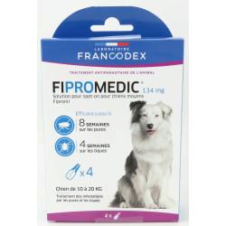 francodex FR-170353 4 Pipettes Fipromedic 134 mg. Pour Chiens de 10 kg à 20 kg. antiparasitaire anti-parasitic