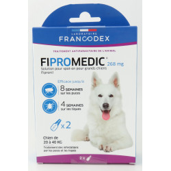 Francodex 2 Fipromedic 268 mg pipettes. For dogs from 20 kg to 40 kg. anti-parasite anti-parasitic