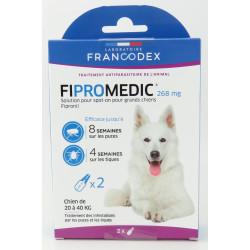 francodex 2 Pipettes Fipromedic 268 mg. Pour Chiens de 20 kg à 40 kg. antiparasitaire FR-170359 antiparasitaire