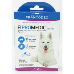 francodex 4 Pipettes Fipromedic 268 mg. Pour Chiens de 20 kg à 40 kg. antiparasitaire FR-170354 antiparassitaria