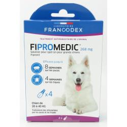 francodex 4 Pipettes Fipromedic 268 mg. Pour Chiens de 20 kg à 40 kg. antiparasitaire FR-170354 antiparasitaire