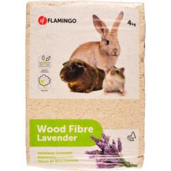 copeaux de bois avec lavande pour rongeur 4KG Foin, litière, copeaux Flamingo FL-201607