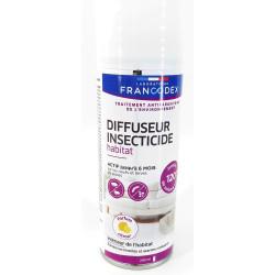 francodex Diffuseur insecticide habitat. 200 ml. parfum citron. traitement antiparasitaire de l'environnement. FR-172352 Anti...