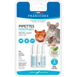 Francodex 3 Insektenschutzpipetten. Für Ratten, Mäuse und Hamster. FR-174072 Pflege und Hygiene
