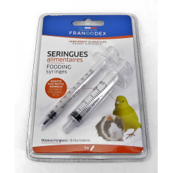 francodex 2 Seringues alimentaires. pour oiseaux et rongeurs. FR-174100 Accueil