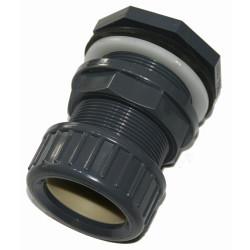 ø 32 mm Traversée de paroi pvc + écrou de serrage Traversée de Paroi PVC VAN DE LANDE IN-STLIE32E