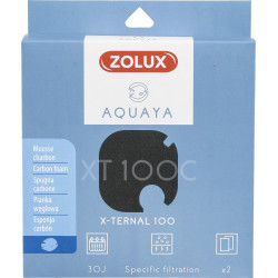 zolux Filter für Pumpe x-ternal 100, Filter XT 100 C Schaumstoffkohle x 2. für Aquarium. ZO-330238 Filtermedien, Zubehör