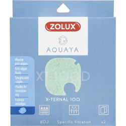 zolux Filter for pump x-ternal 100, filter XT 100 D anti-algae foam x 2. for aquarium. Filter media, accessories