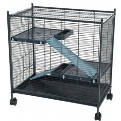 zolux Cage indoor 2 mini loft couleur bleu. dimension intérieur 67.5 x 39 x 58 cm. pour les petits mammifères ZO-205116 Cage