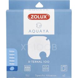 zolux Filter für Pumpe x-ternal 100, Filter XT 100 B Perlon x 2. für Aquarium. ZO-330236 Filtermedien, Zubehör