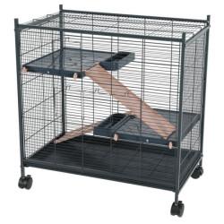 zolux Cage indoor 2 mini loft couleur rose. dimension interieur 67.5 x 39 x 58 cm. pour les petits mammifères ZO-205117 Cage