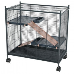 zolux ZO-205117 Indoor cage 2 mini loft pink color. indoor size 67.5 x 39 x 58 cm. for small mammals Cage