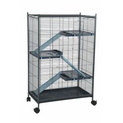 zolux Cage indoor 2 maxi loft. couleur bleu. dimension intérieur 67.5 x 39 x 92.5 cm. pour les petits mammifères ZO-205120 Cage