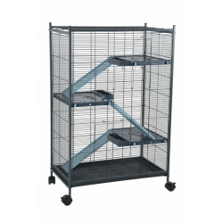 zolux ZO-205120 Indoor cage 2 maxi loft. blue color. indoor size 67.5 x 39 x 92.5 cm. for small mammals Cage