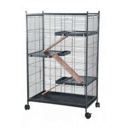 zolux ZO-205121 Indoor cage 2 maxi loft. blue color. indoor size 67.5 x 39 x 92.5 cm. for small mammals Cage