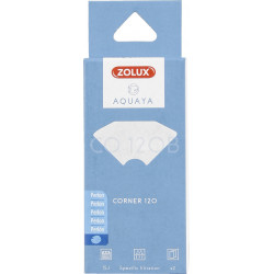 zolux Filter für Eckpumpe 120, CO-Filter 100 B Perlon x 2. für Aquarium. ZO-330226 Filtermedien, Zubehör