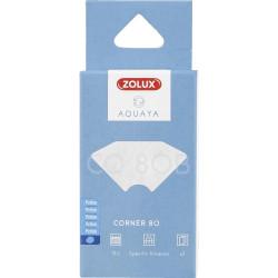 zolux Filter für Eckpumpe 80, CO-Filter 80 B Perlon x 2. für Aquarium. ZO-330221 Filtermedien, Zubehör