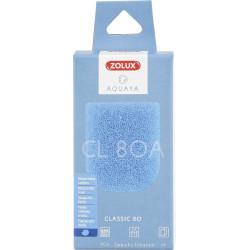 zolux Filter für Pumpe classic 80, Filter CL 80 A blaues Schaumstoffmedium x2. für Aquarium. ZO-330207 Filtermedien, Zubehör