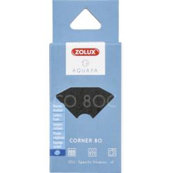 ZO-330223 zolux Filtro para la bomba de la esquina 80, filtro de CO 80 C de espuma de carbón x 2. para el acuario. Medios fil...