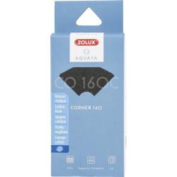 zolux Filter für Eckpumpe 160, CO-Filter 160 C Schaumstoffkohle x 2. für Aquarium. ZO-330233 Filtermedien, Zubehör