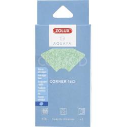 zolux Filter for corner pump 160, CO filter 160 D anti-algae foam x 2. for aquarium. Filter media, accessories