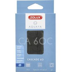 ZO-330202 zolux Filtro para la bomba de la esquina 60, filtro CA 60 C cartucho de zeocarbos x 2. para el acuario. Medios filt...