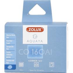 zolux Filter for corner pump 160, CO filter 160 Al fine blue foam x1. for aquarium. Filter media, accessories