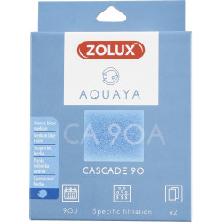 zolux Filter für Kaskadenpumpe 90, CA 90 A Filter blaues Schaumstoffmedium x2. für Aquarium. ZO-330205 Filtermedien, Zubehör