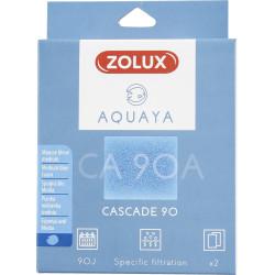 ZO-330205 zolux Filtro para la bomba de cascada 90, CA 90 Un filtro de espuma azul medio x2. para el acuario. Medios filtrant...