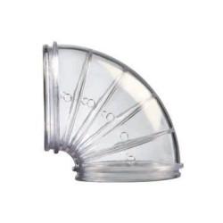 zolux 2 Schläuche Ellbogen Rody transparent grau. Größe ø 5 cm . für Nagetiere. ZO-206026 Käfig