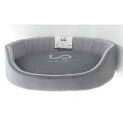 zolux IN & OUT. dog basket. 60 x 44 x 17 cm. grey color. Dodo
