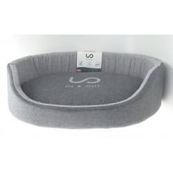 zolux IN & OUT. dog basket. 80 x 62 x 19 cm. grey color. Dodo