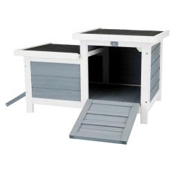 Trixie Stall mit 2 Ausgängen . 70 x 43 x 45 cm. für Kleintiere. TR-62390 Käfig