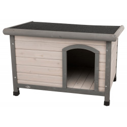 Trixie Classic dog house with flat roof S-M . 85 x 58 x 60 cm . grey. for dogs Niche