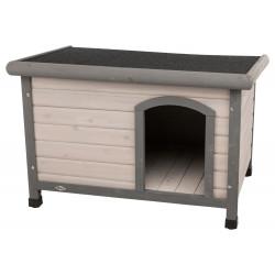 Trixie Niche Classic toit plat S-M . 85 x 58 x 60 cm . grise. pour chiens Niche pour chien