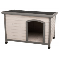 Trixie Classic dog house with flat roof. 104 x 72 x 68 cm . grey Niche