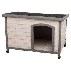 Trixie Niche Classic toit plat M-L: 104 x 72 x 68 cm . grise. pour chiens . Niche pour chien