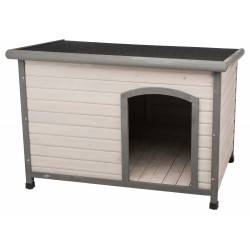 Trixie Classic dog house with flat roof Size L. 116 x 82 x 79 cm . grey. for dogs Niche